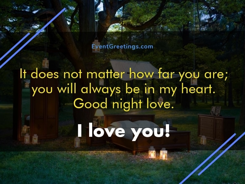 Girlfriend far - good night miss you message quote