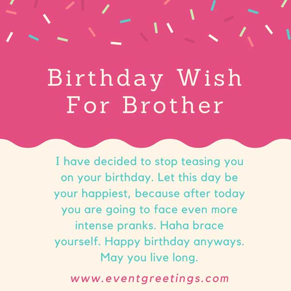 135 Cute Birthday Wishes,Quotes And Messages For Brother