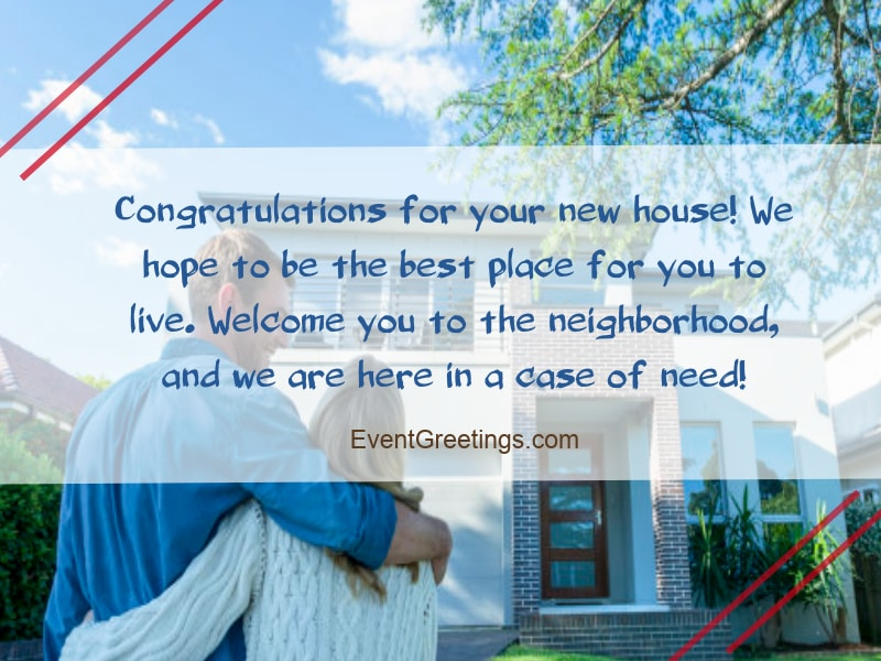 congratulations on new house