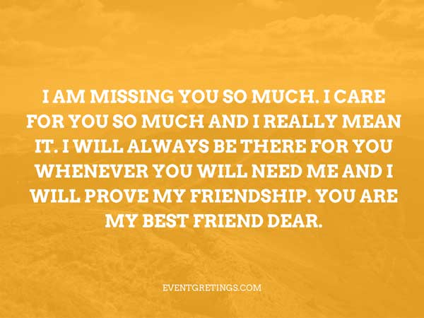 Will Miss U Friend Quotes