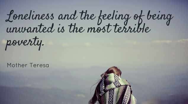 The feeling of loneliness