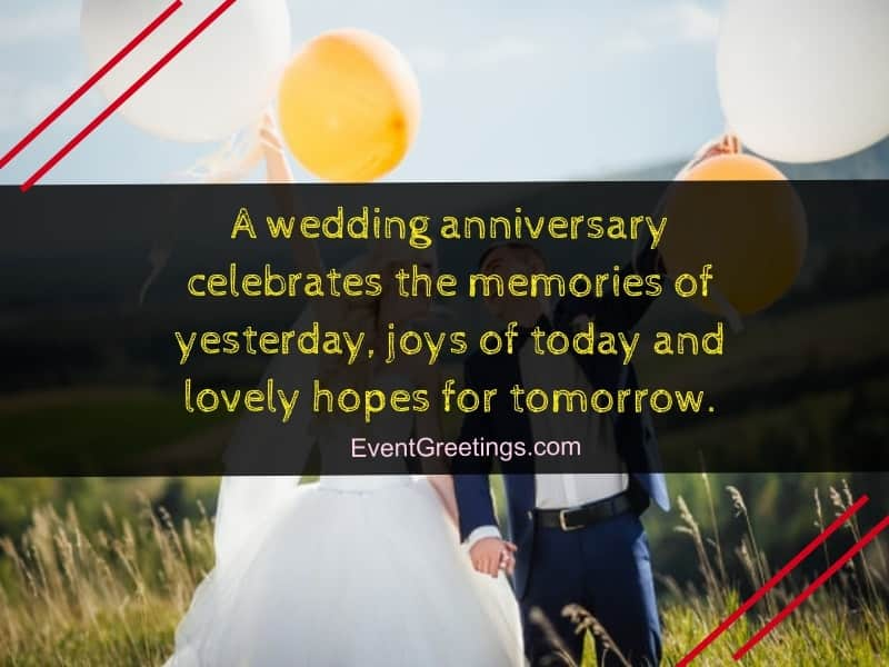60 Best Happy Wedding Anniversary Wishes To A Couple Events Greetings