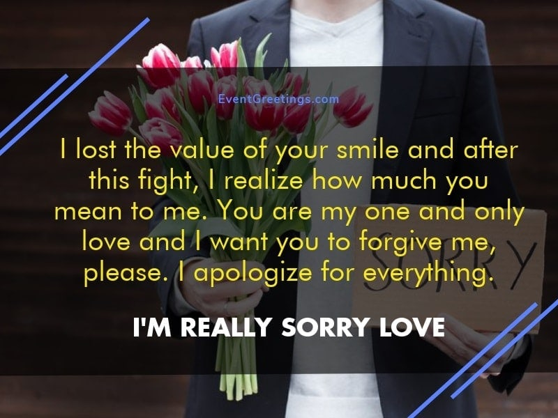 I Am Sorry Messages For Girlfriend Apology Quotes Events Greetings Stunning Love One And Only Quote For Her