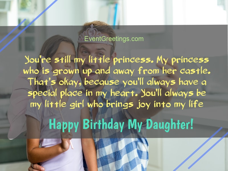 65 Amazing Birthday Wishes For Daughter From Dad