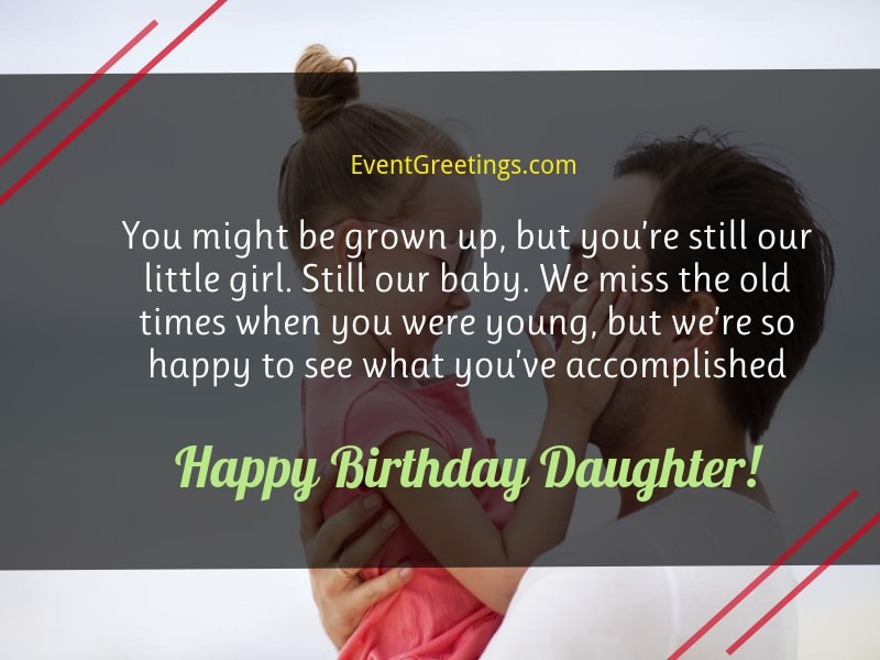 Birthday Wish For Daughter From Father