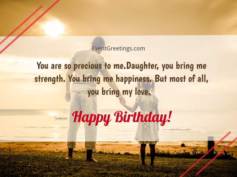 Birthday Wish For Daughter From Dad