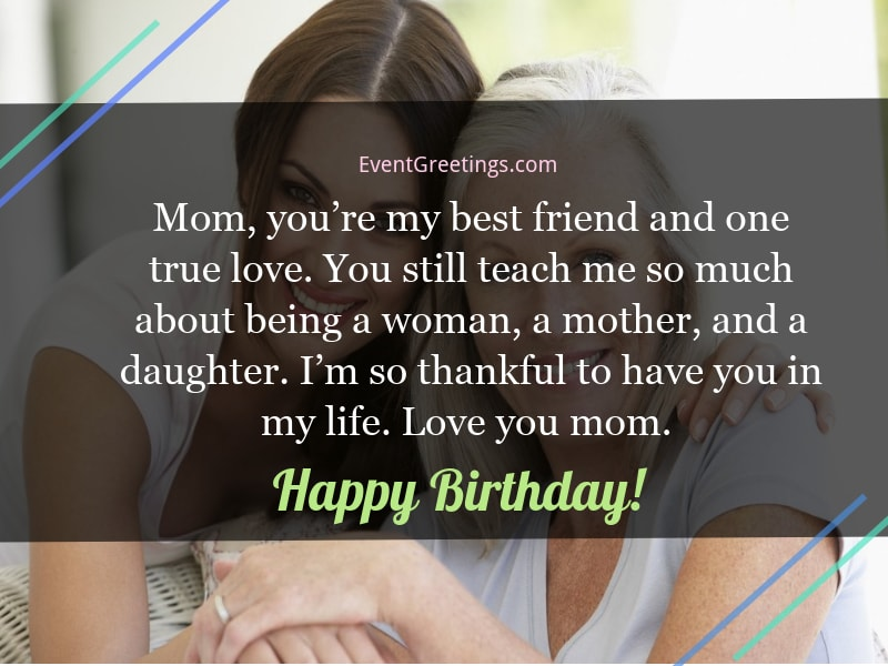 birthday wishes for mother from daughter