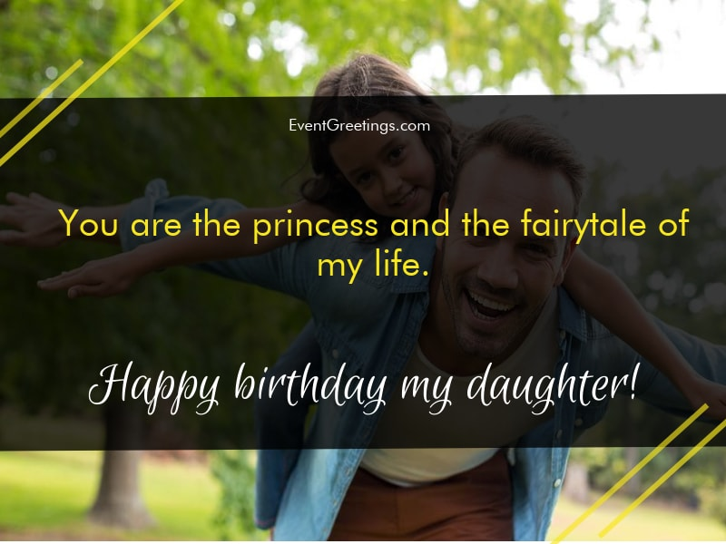 Birthday Wishes To Daughter From Father