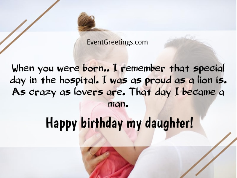 Birthday Wishes From Father To Daughter
