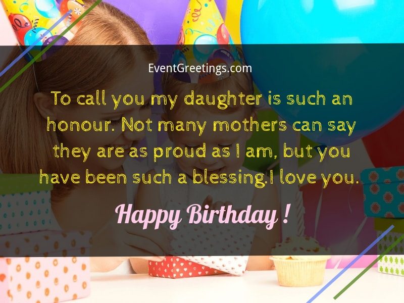 114 Cutest Happy Birthday Wishes For Daughter Events Greetings