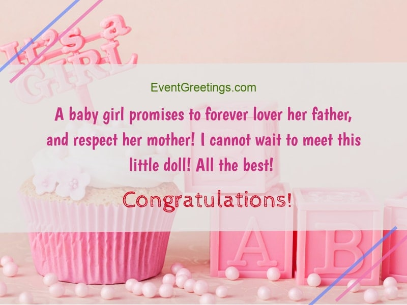 New Baby Girl Wishes, Quotes And Congratulation Messages