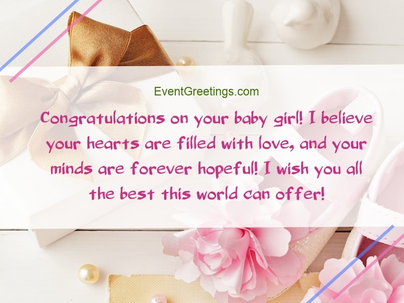 New Baby Girl Wishes Quotes And Congratulation Messages
