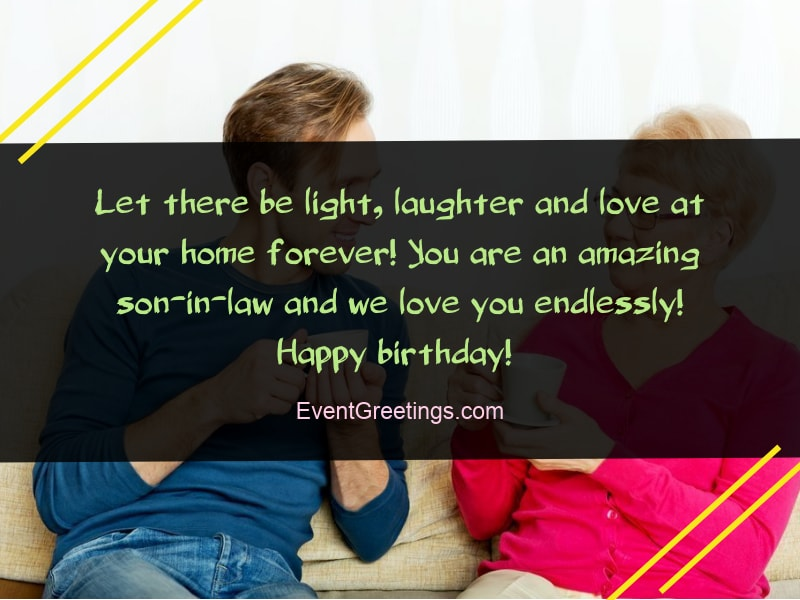 Birthday wishes for son in law perfect gesture to show love birthday wishes for son in law m4hsunfo