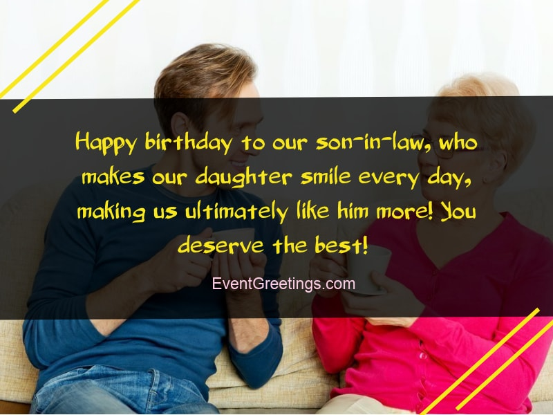 Birthday Wishes For Son In Law - Perfect Gesture to Show Love