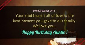 happy birthday wishes for aunt