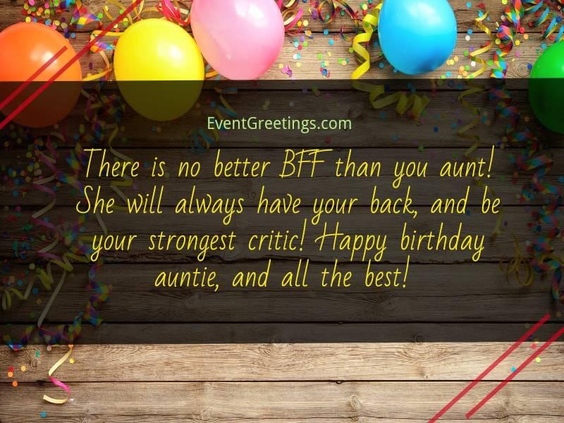 aunt birthday
