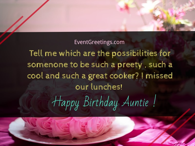 73 Best Happy Birthday Auntie Messages With Images Events Greetings