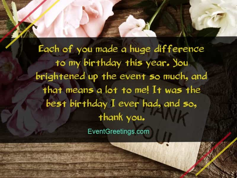 You Brightened Up The Event So Much And That Means A Lot To Me It Was Best Birthday I Ever Had Thank
