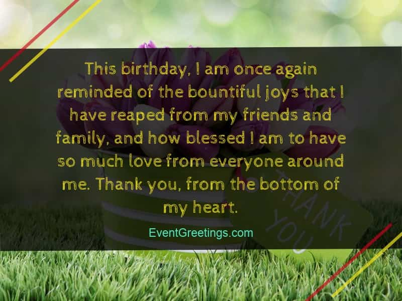 birthday thank you quotes 40 Best Thank You Messages for Birthday Wishes – Quotes And Notes  birthday thank you quotes