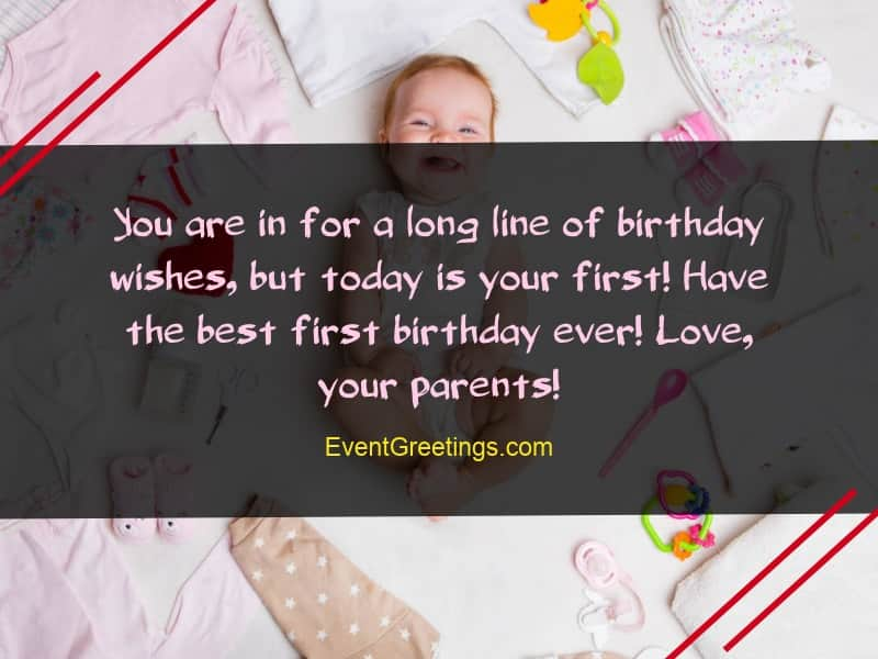 21 Awesome Birthday Wishes For 1 Year Old Daughter