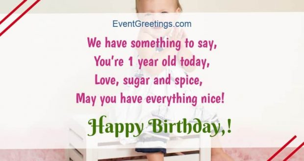 21 Awesome Happy Birthday Wishes For 1 Year Old Daughter Events Greetings