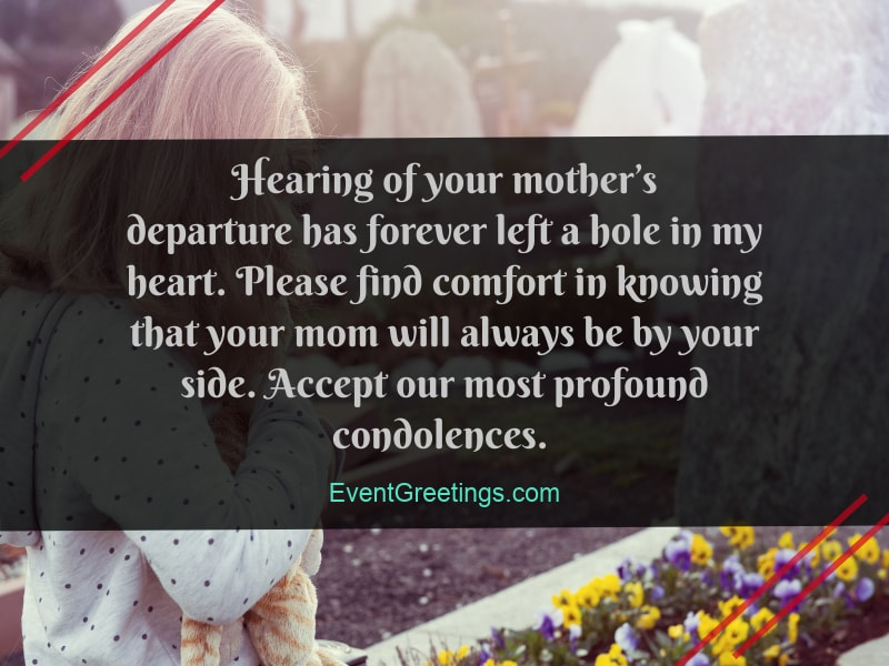 55 Condolence Message On Death of Mother - Sympathy Quotes