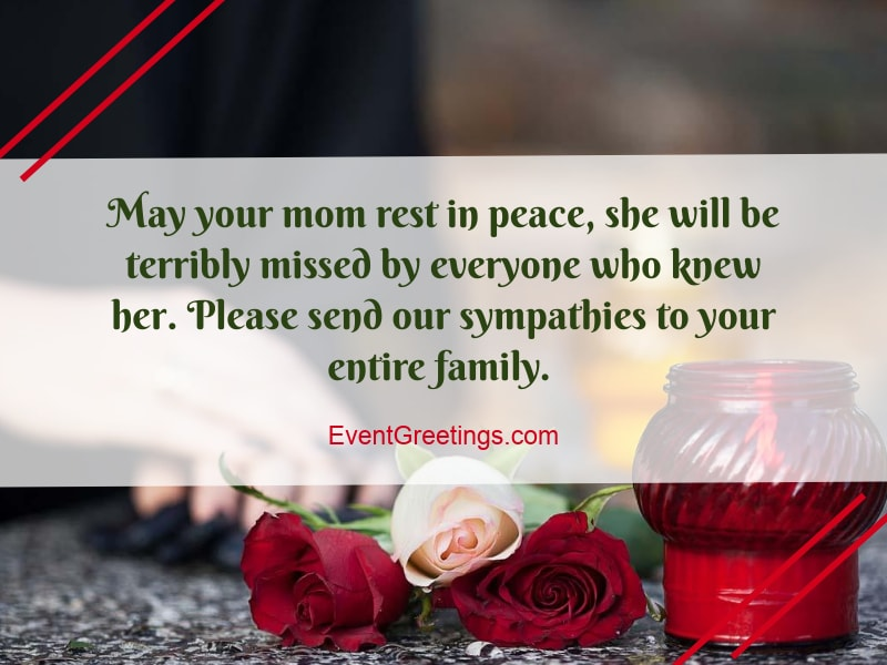condolence message mother death