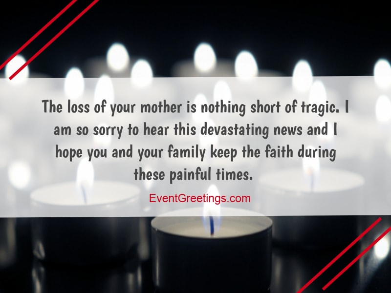 55 Condolence Message On Death Of Mother Sympathy Quotes