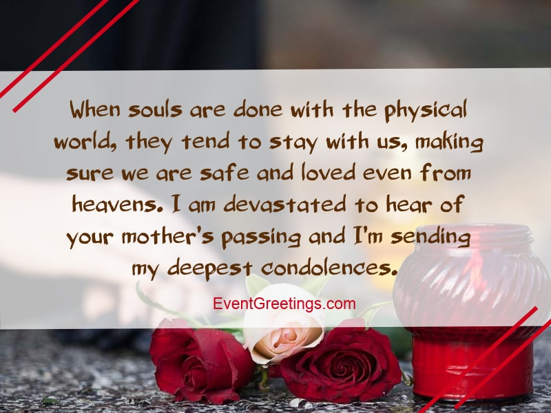 mother passed away condolence message
