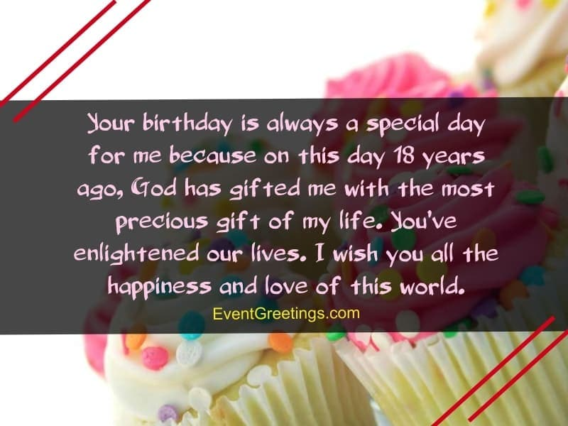 sweet birthday quotes for 18th birthday