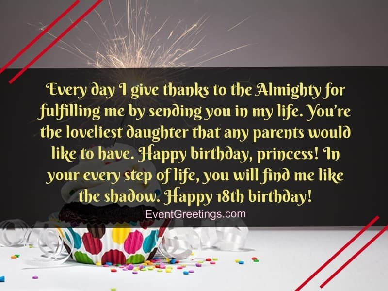 18th birthday wishes for daughter