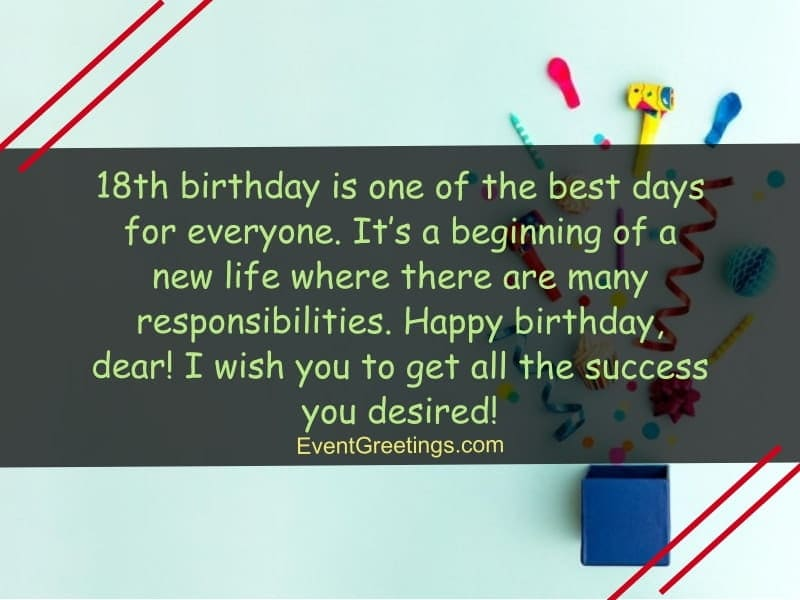18th birthday wishes and quotes for your loved ones