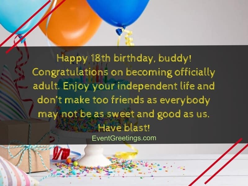 Nice 18th Birthday Wishes And Quotes