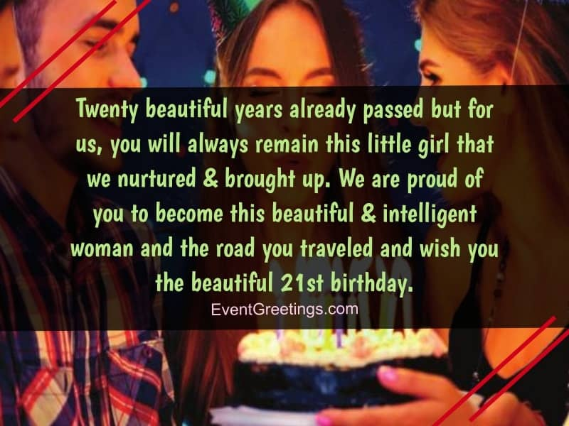 wishes for 21st birthday