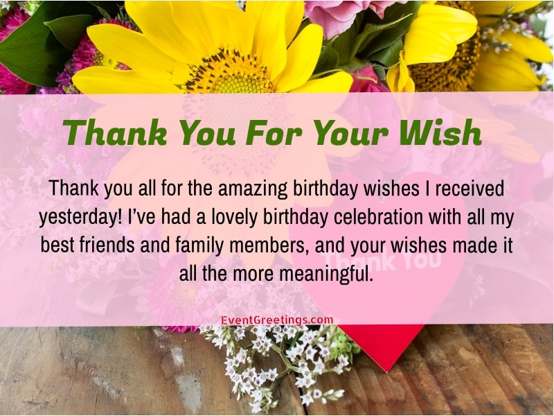 50 Best Thank You Messages For Birthday Wishes Quotes And Notes