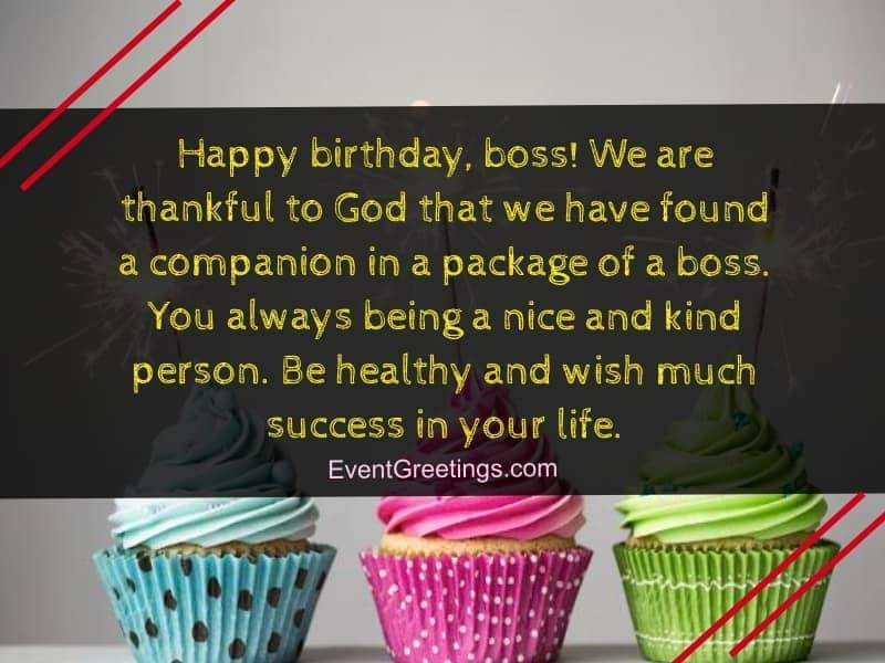 birthday wishes and messages for boss