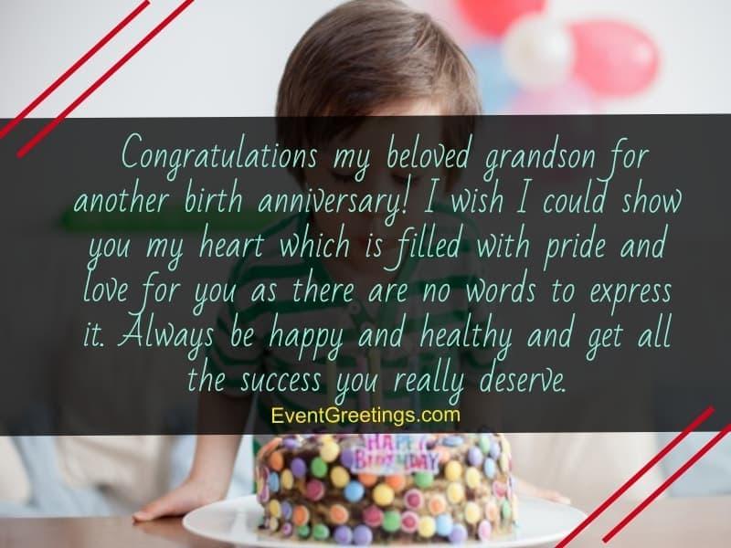 happy birthday grandson wishes