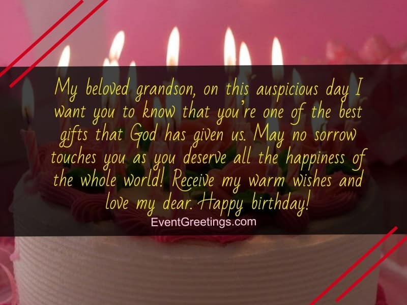 Nice Birthday Wishes For Your Grandson