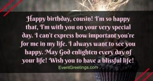 birthday wishes and quotes for cousin