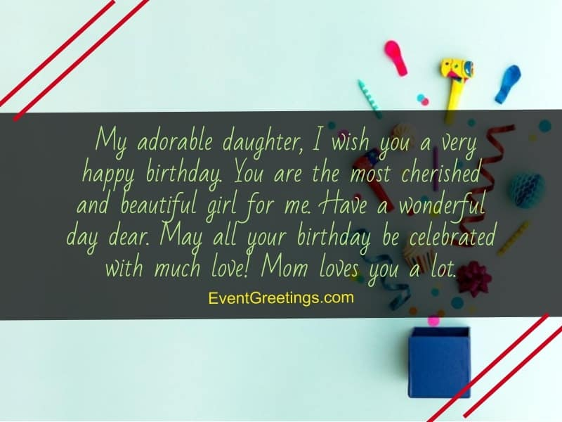 inspirational birthday wishes for daughter from mother