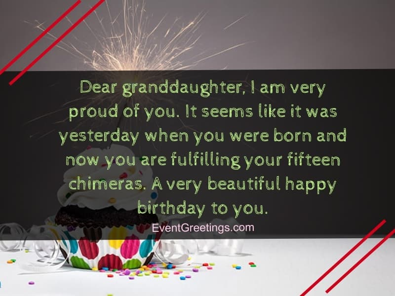 birthday messages for granddaughter