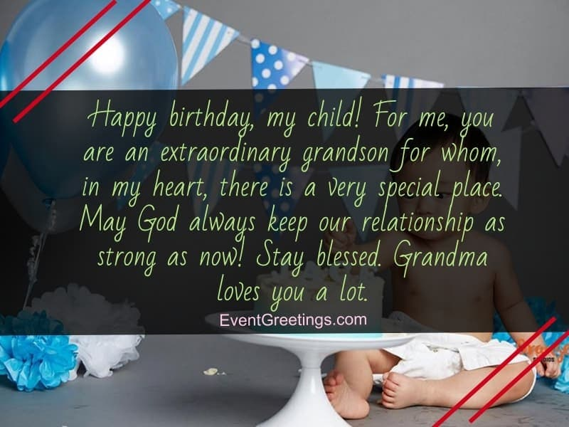 birthday messages for grandson