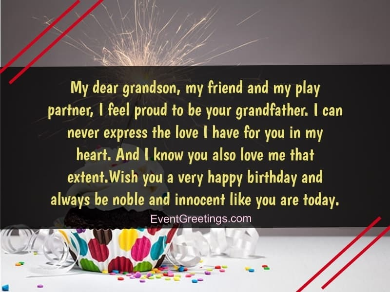 wishes about birthday of grandson