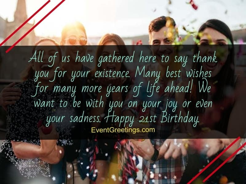70 Extraordinary 21st Birthday Quotes And Wishes With Love Events