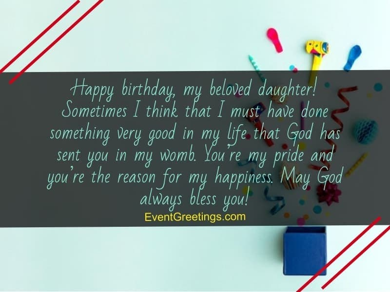 50 Wonderful Birthday Wishes For Daughter From Mom Events Greetings