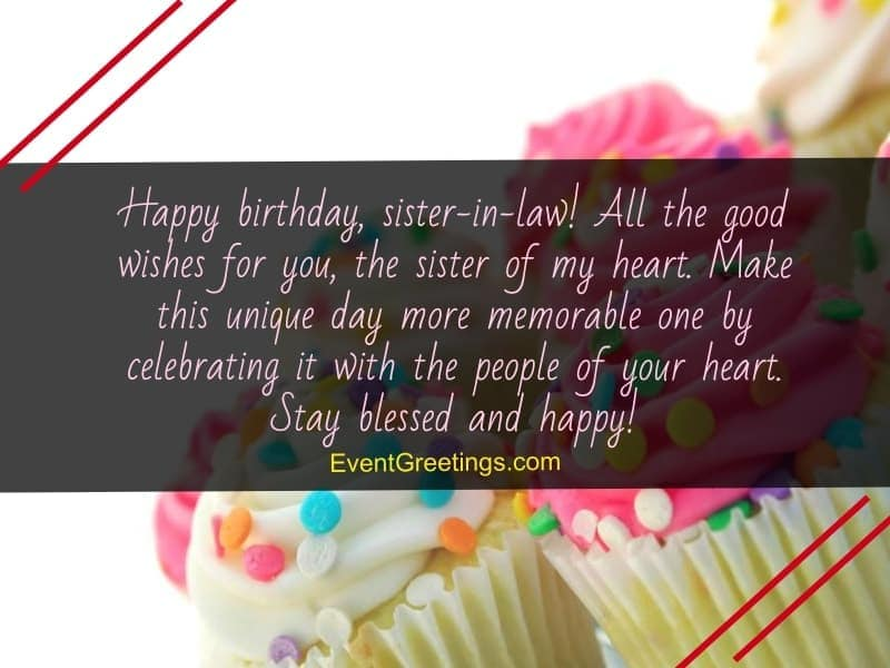 Happy birthday dear sister in law quotes