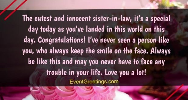 45 Best Birthday Wishes And Quotes For Sister In Law To Express Unconditional Love Events Greetings