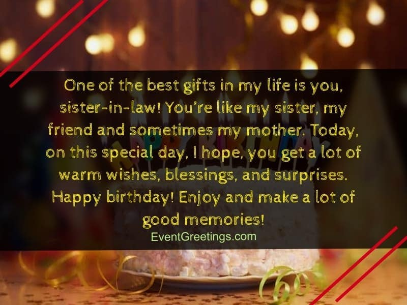 happy birthday messages for sister in law