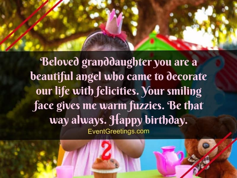 Cute Happy Birthday Wishes For Granddaughter