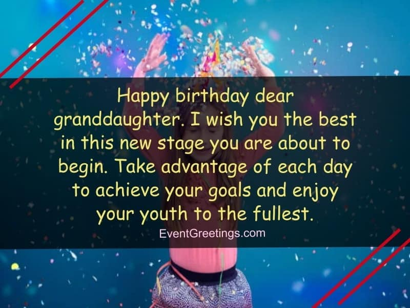 nice wishes about birthday of granddaughter